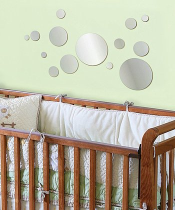 Mirror Dots Acrylic Wall Decal Set