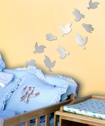 Mirror Sweet Birds Acrylic Wall Decal Set