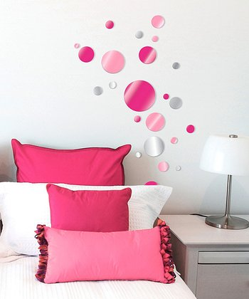 Pink Dot Acrylic Wall Decal Set