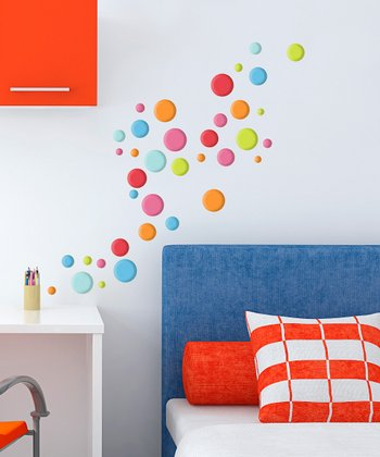 Lotsa Dots GlitterPuff Wall Decal Set