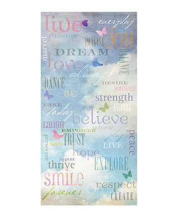 Empowering Words Canvas Art