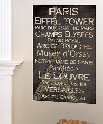 'Paris' Landmark Canvas Art
