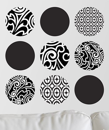 Graphic Salon Dot Wall Decal Set