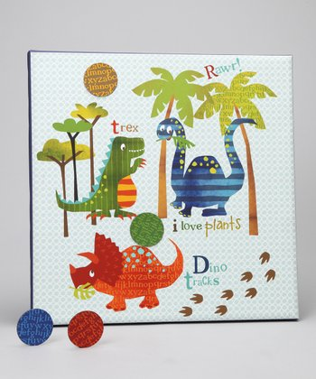 Dinosaur Walk Canvas Magnet Memo Board