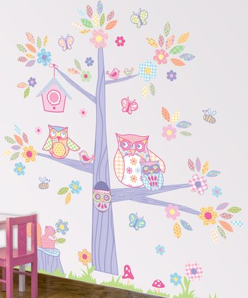 Sweet Owl & Tree Wall Decal Set