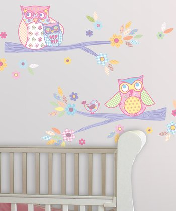 Sweet Owls Wall Decal Set