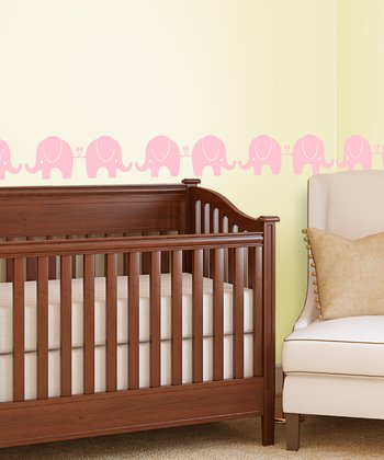 Lot 26 Studio Pink Elephant Parade Wall Decal Set