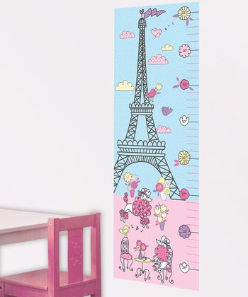 Pink & Blue Ooh La La Growth Chart Wall Decal