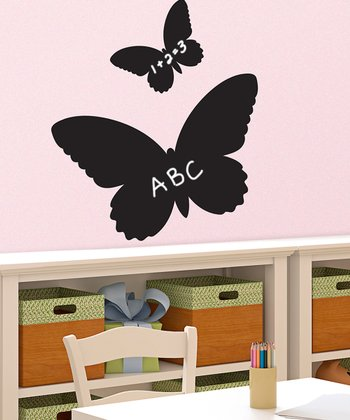 Butterfly Chalkboard Wall Decal Set