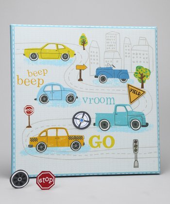 Blue on the Move Canvas Magnet Memo Board
