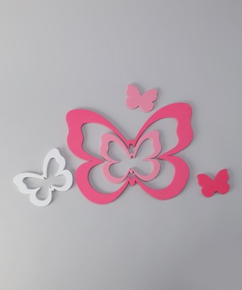 Butterfly Foam Wall Decal Set