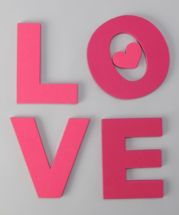 Love Foam Wall Decal Set