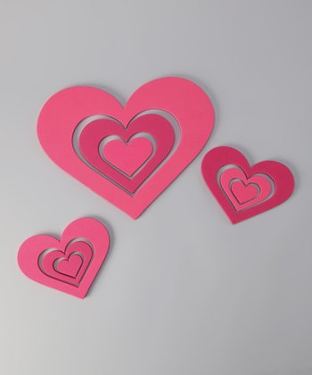 Heart Foam Wall Decal Set