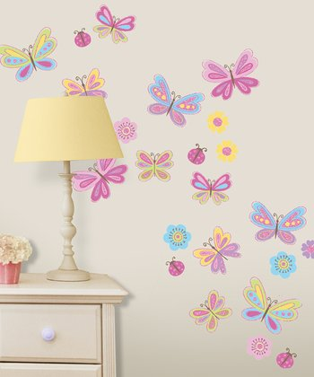 Tweet Tweet Butterfly Wall Decal Set