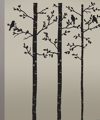 Birch Tree Wall Decal Set