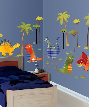 Dinosaur Walk Wall Decal Set
