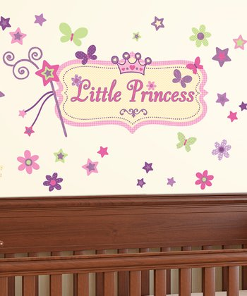 Pink 'Little Princess' Wall Decal Set