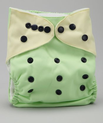 Green & Yellow Pocket Diaper