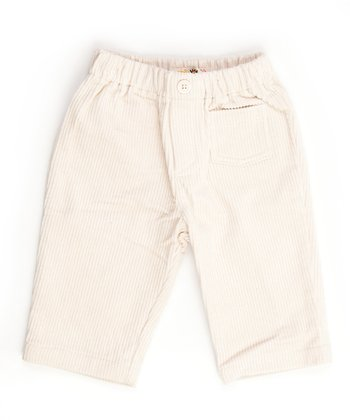 Lourdes White Corduroy Pants - Infant, Toddler & Boys