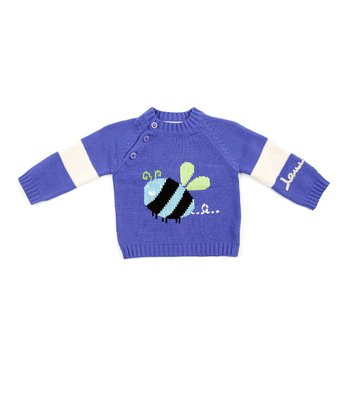 Lilac & White Bee Sweater - Infant, Toddler & Boys