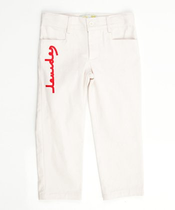 Lourdes White Jurassic Pants - Infant, Toddler & Boys