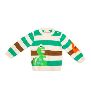 Green Listas Sweater - Infant, Toddler & Boys