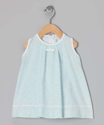 Love, Auntie Baby Blue Flowers Little Miss Dress - Infant