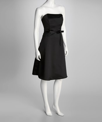 Black Princess Di Strapless Dress & Wrap - Women & Plus