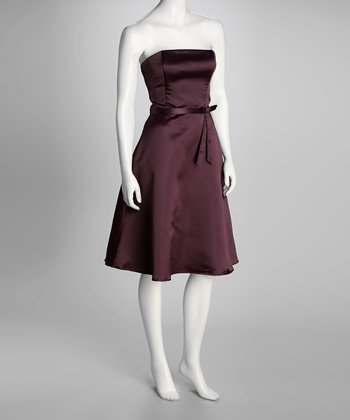 Plum Princess Di Strapless Dress & Wrap - Women & Plus