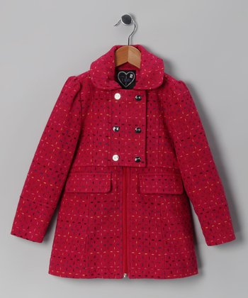 Raspberry Stitch Novelty Coat - Girls