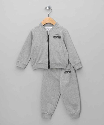 Gray Mini Cooper Zip-Up Jacket & Pants - Infant & Toddler