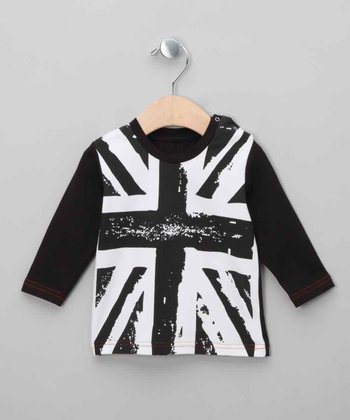 Black Union Jack Top - Infant & Toddler