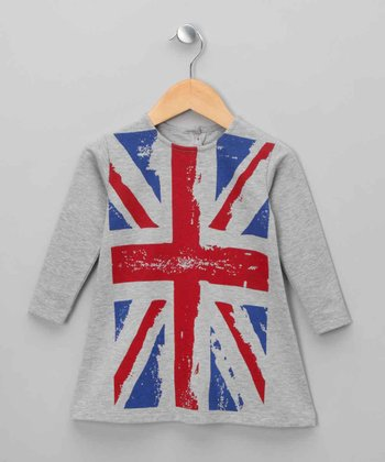 Gray Union Jack Dress - Infant
