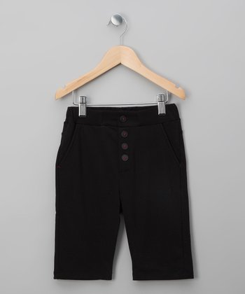 Black Button Shorts - Infant, Toddler & Boys