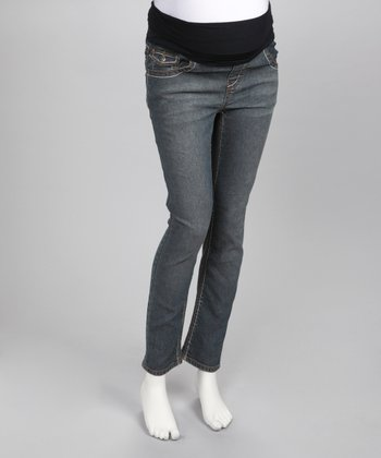 Medium Wash Maternity Skinny Jeans