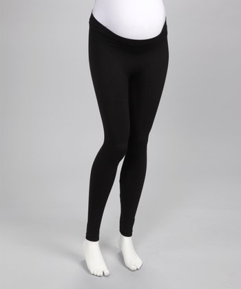 Love My Belly Black Shape Me Up Under-Belly Maternity Leggings