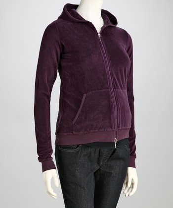 Love My Belly Purple Maternity Zip-Up Hoodie