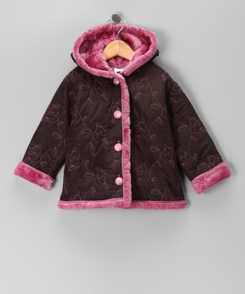 Brown Rose Jacket - Toddler & Girls