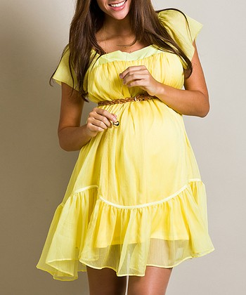 Sun Flowei Ruffle Maternity Dress