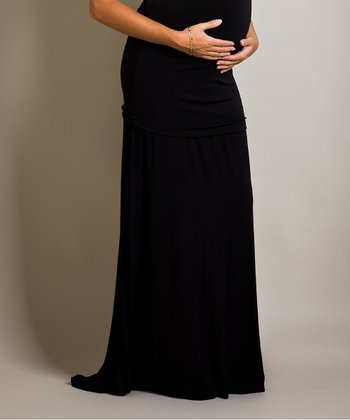 Black Bella Maternity Maxi Skirt