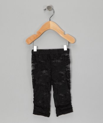 Black Lace Leggings - Infant, Toddler & Girls