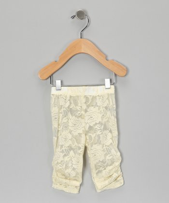 Cream Lace Leggings - Infant, Toddler & Girls