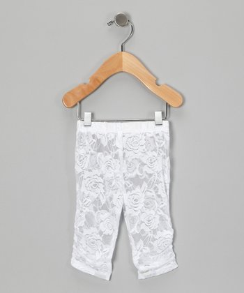 White Lace Leggings - Infant, Toddler & Girls