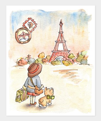 Boy Paris Postcard Print