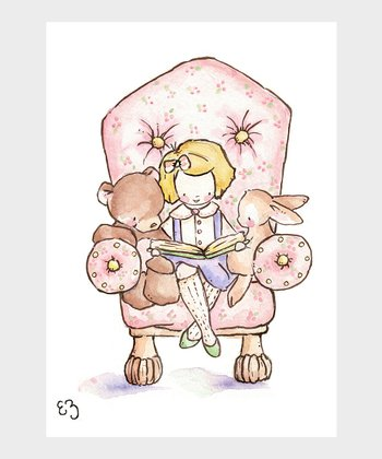 The Pink Chair & Blonde Girl Print