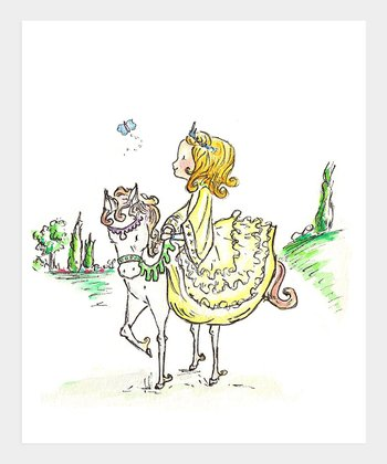 Blonde A Princess & Her Pony Print