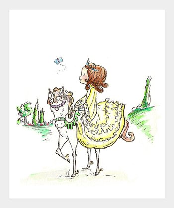 Brown-Haired A Princess & Her Pony Print