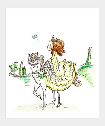 Auburn-Haired A Princess & Her Pony Print
