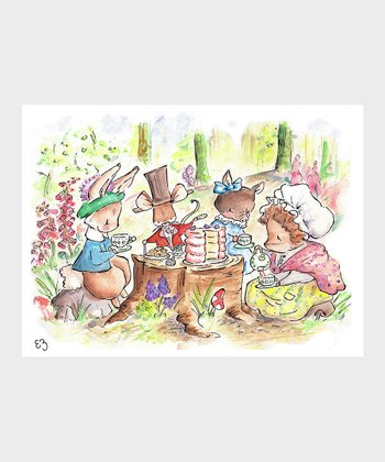 Peter Rabbit Tea Party Print