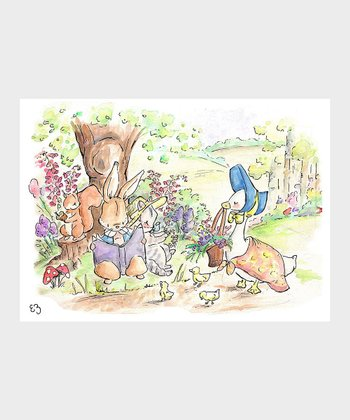 Peter Rabbit Reading Club Print